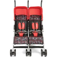 Carrinho De Bebê Para Gêmeos Safety1St Double Alfa Vermelho