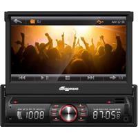 """Dvd Player Automotivo Quatro Rodas Mtc6617 Bluetooth Com Tela Retrátil Led De 7"""", Rádio Fm, Entrada Usb E Cartão Sd"""