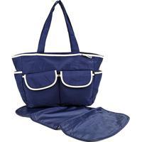 Bolsa Maternidade Jacki Design - Feminino-Azul+Bege