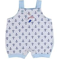 Macacão Infantil Para Bebê Menino - Azul Claro