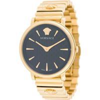 Versace Relógio V Circle - Dourado