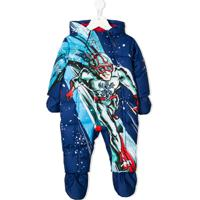 Dolce & Gabbana Kids Traje De Neve Com Etampa - Azul