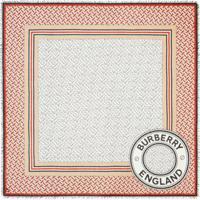 Burberry Lenço Quadrado Monogramado Grande - Vermelho