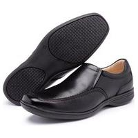 Sapato Social Conforto Ortopédico Em Couro Preto