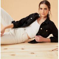 Jaqueta Jeans Frente Assimétrica