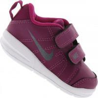Tênis Para Bebê Nike Pico Lt Feminino - Infantil - Rosa Esc/Branco
