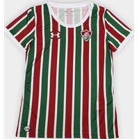 Netshoes  Camisa Fluminense I 17 18 S Nº Torcedor Under Armour Feminina -  Feminino 1bb6904317235