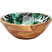 Saladeira Leafage Folhagem- Marrom & Verde- 10Xã˜30Cmbon Gourmet
