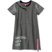 Vestido Lilica Ripilica Infantil Cinza