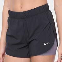 Short Nike Flex 2''1 Feminino - Feminino-Preto+Areia