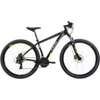Mountain Bike Caloi Extreme - Aro 29 - Freio Disco Hidráulico - Câmbio Shimano Tourney - 21 Marchas - Preto