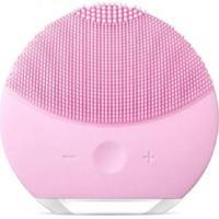 Esponja Elétrica De Limpeza Facial Massageadora De Silicone Rosa