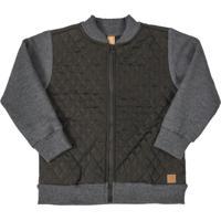 Jaqueta Em Tecido Matelassê Cinza