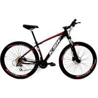 Bicicleta Aro 29 Ksw 24V Câmbio Tras. Acera Freio Hidráulico Susp Trava No Ombro - Unissex