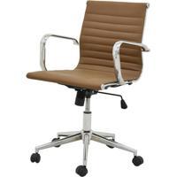 Cadeira Sevilha Eames Baixa Cromada Pu Marrom Escuro - 37792 - Sun House