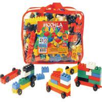 Mochila Criativa Composta De 400 Peças Tipo Lego - Kanui
