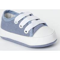 Tênis Com Recortes- Azul Claro & Brancotico Baby