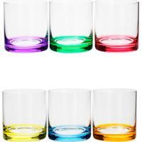 Conjunto Rojemac 6 Copos Baixos De Cristal Ecológico Set-Bar Favorit Colorido - Kanui