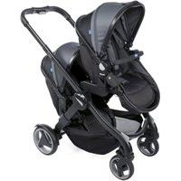 Carrinho De Bebê Para Gêmeos Chicco Fully Twin Stone 0 A 30Kg