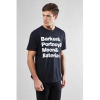 Camiseta Reserva Bateria Rock Masculina - Masculino-Preto