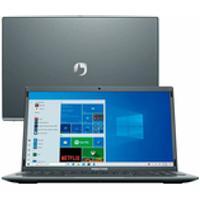 Notebook Positivo Motion Q4128C Intel Atom Quad-Core? Windows 10 Home 14 - Cinza - Inclui Microsoft 365
