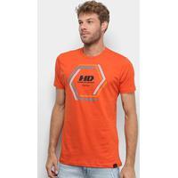 Camiseta Hd Long Vortex Masculina - Masculino-Laranja