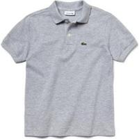 Camisa Polo Infantil Lacoste Regular Fit Masculina - Masculino-Cinza