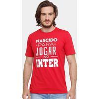 Camiseta Internacional Nascido Para Jogar Masculina - Masculino