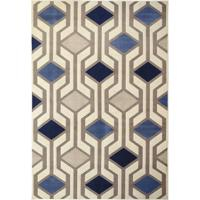 Tapete Supreme Imperial Geométrico- Bege Claro & Azul