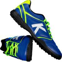 501e124b9aec8 Netshoes; Chuteira Kelme Sprint Tf Society Azul E Verde