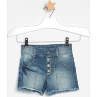 Short Jeans Com Nesgasazul Escurolook Jeanslook Jeans