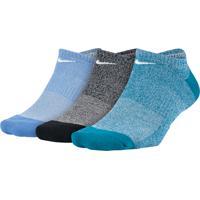 Meia Nike Every Cushion Marl Sem Cano (3 Pares)