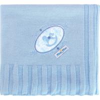 Manta Luxo Minasrey Muito Mimo Tricô Bordada Com Caixa Azul