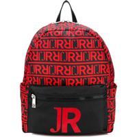 John Richmond Junior Mochila Monogramada - Vermelho