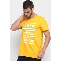 Camiseta Adidas Oys Brd Masculina - Masculino-Amarelo
