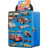 Maleta Hot Wheels Porta Carrinhos - Azul - Modelo 2 - Intek