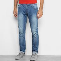 Calça Jeans Skinny Forum Igor Estonada Masculina - Masculino-Azul