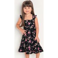 Vestido Infantil Floral Liberty Moda Evangélica