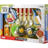 Kit Pequeno Chef Brincando De Ser Com Acessórios Indicado Para +3 Anos Multikids Br954