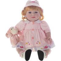 Boneca Laura Baby Carla - Loiro & Azul- 50X20X10Cmshiny Toys