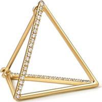 Shihara Brinco Triângulo Com Diamantes 20 (02) - Metálico