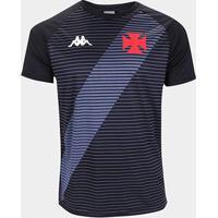 Camisa Vasco Da Gama Supporter Kappa Masculina - Masculino-Preto