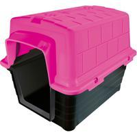 Casinha Plástica Retangular Para Pets 40X41Cm Rosa