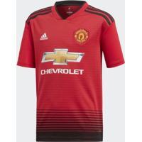 Camisa Juvenil Manchester United 1 Adidas - Unissex