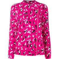Armani Exchange Blusa Com Padronagem Estampada - Rosa