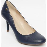 6467b2726e Sapato Tradicional Em Couro Com Recorte- Azul Marinho