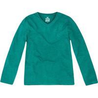 Camiseta Lisa Com Bordado- Verde- Primeiros Passos