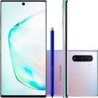 "Smartphone Samsung Galaxy Note 10 Prata 256Gb 8Gb Ram Tela De 6,4"" Câ"