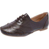 Sapato Oxford Q&A Casual Em Couro Chocolate