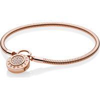 Bracelete Crie & Combine Rosetm - Liso Fecho Pandora Cadeado